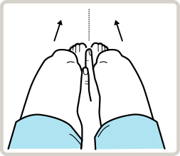 knee exam - knees move in, select shoes for flat feet